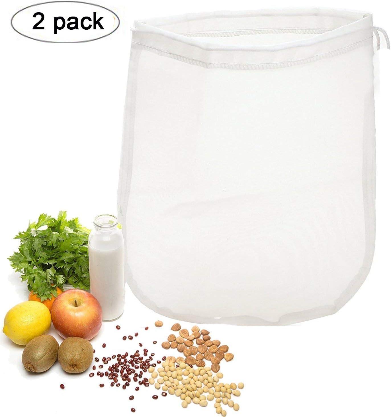 OldPAPA 75μm Nut milk bag, bolsa para hacer leches vegetales,bolsa para hacer queso, zumos (Paquete de 2) vegetales100% Nylon Perfecto como colador: Amazon.es: Hogar