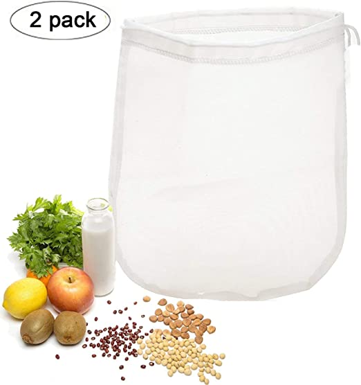 OldPAPA 75μm Nut milk bag, bolsa para hacer leches vegetales,bolsa ...
