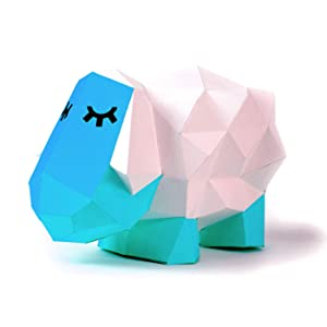 Paperraz DIY 3D Sheep Sculpture Puzzle Low Poly PaperCraft Building Kit - NO Scissors Needed