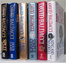 45a15aec4f7928 David Baldacci (Set of 6) Split Second  Hour Game  Simple Genius  1st  Family  6th Man  King   Maxwell Hardcover – 2013