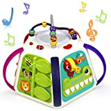 Woby 18-in-1 Educational Toddler Baby Toy Musical Activity Cube Game Play Center with Sounds and Lights,Lots of…