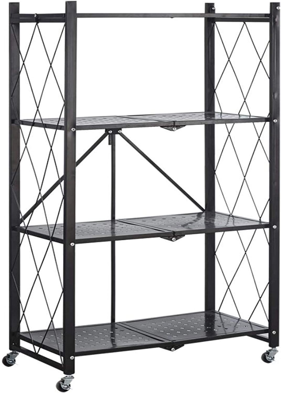 aasdf 3-Tier Rolling Utility Cart Movable Storage Organizer Shelves with Wheels Multifunctional Service Cart for Restaurant Foodservice Office Warehouse