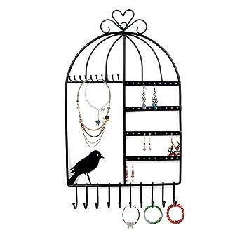 Amazoncom Rbenxia Birdcage Shape Wall Mount Jewelry Organizer
