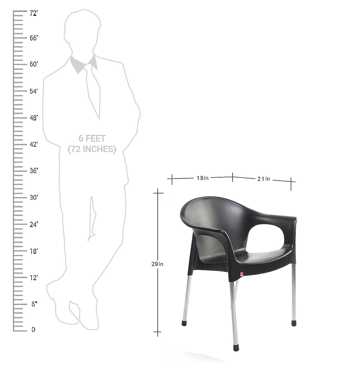 Cello Metallo Cafeteria Set of 4 Chairs Black Amazon Home