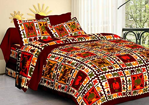 Buy Feb Bed Sheets Collection Cotton Queen Mandala Quilt Cover Donna Cover With Zipper Closure Ombre Duvet Cover With 2 Pillow Covers Brown And Multicolour Fab Bed 21 Online At Low Prices
