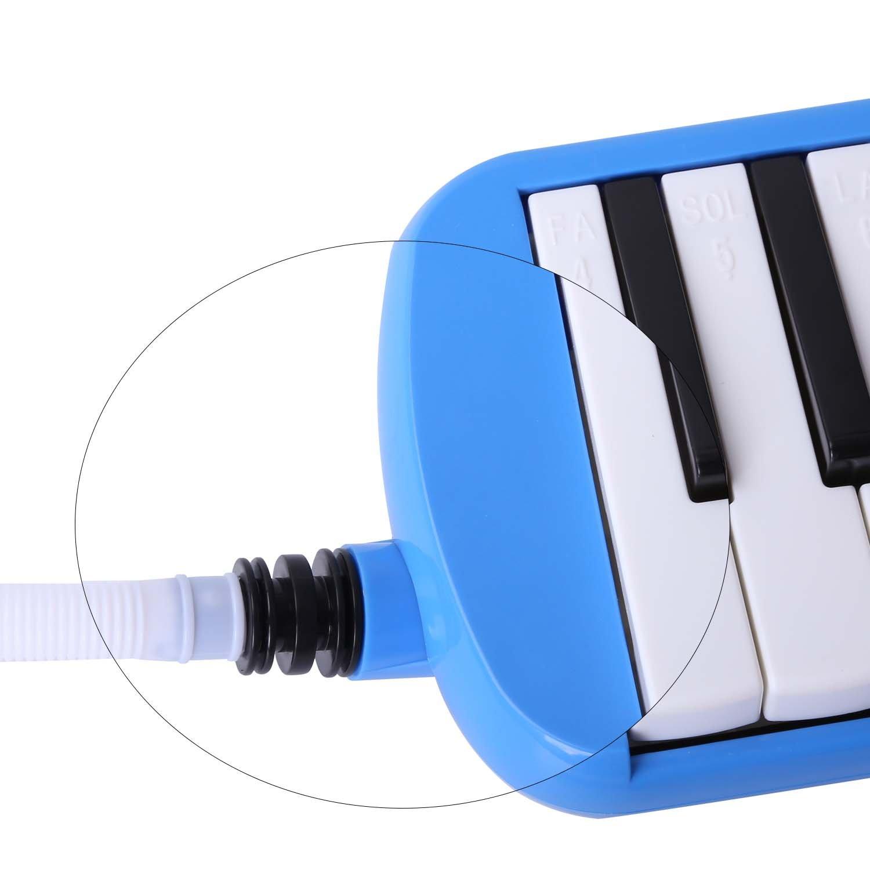 Melódica CAHAYA, Piano de Viento con 32 Teclas, Incluye Tubo de Soplado, Boquilla y Bolsa de Transporte (Azul): Amazon.es: Instrumentos musicales