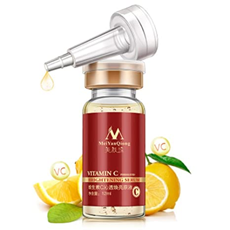 Sérum de vitamina C para cara firmeza brillante de absorción rápida vitamina C natural orgánico suero