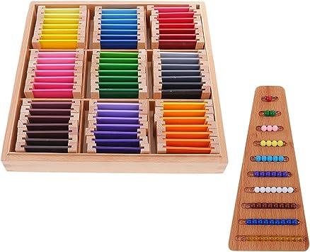 FITYLE Caja de Aprendizaje Sensorial Montessori con Piezas de Madera de Colores Kids + Cuentas Matemátias Contando Juguete de Mesa: Amazon.es: Juguetes y juegos