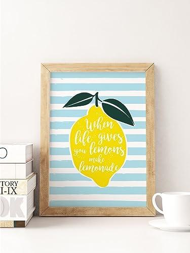 Amazon.com: Lemonade Poster, Funny Print, Typography Print, Kitchen ...