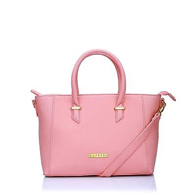 Caprese Porsche Women s Tote Bag (Pink)  Amazon.in  Shoes   Handbags 5785df481832e
