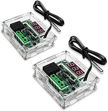 Relay Thermostat Digital LED Temperatur Regler Wasserdicht DC12V//20A  Display