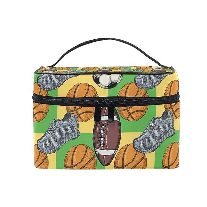 Bolsas de cosméticos Travel Makeup Cosmetic Bags Football ...