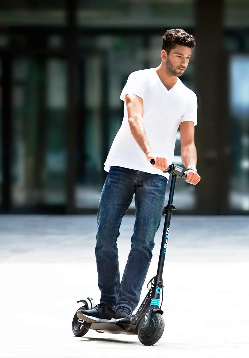 Micro Merlin Electric Scooter Swiss-Designed, Lightweight, Foldable E-Scooter up to 15 MPH with Cruise Control, Ages 18 +