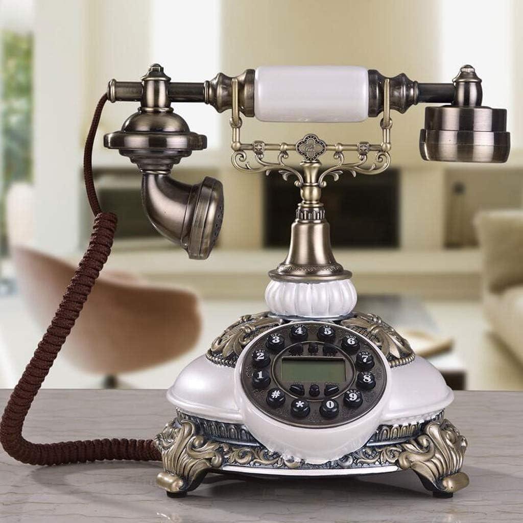 ノスタルジックなビンテージプッシュボタンと布コードスタイルロータリーレトロな昔ながらのダイヤルホームとオフィスリビングルームの装飾青銅金属仕上げ
