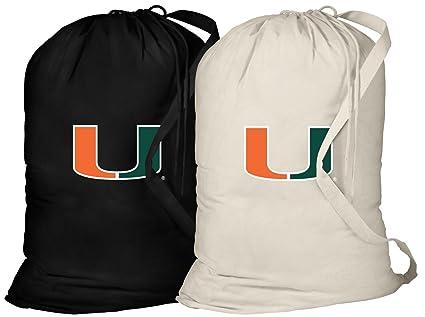 Amazon.com: Universidad de Miami Bolsa para colada -2 PC Set ...