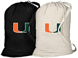 Broad Bay University of Miami Laundry Bag -2 Pc Set- Miami Canes Clothes Bags