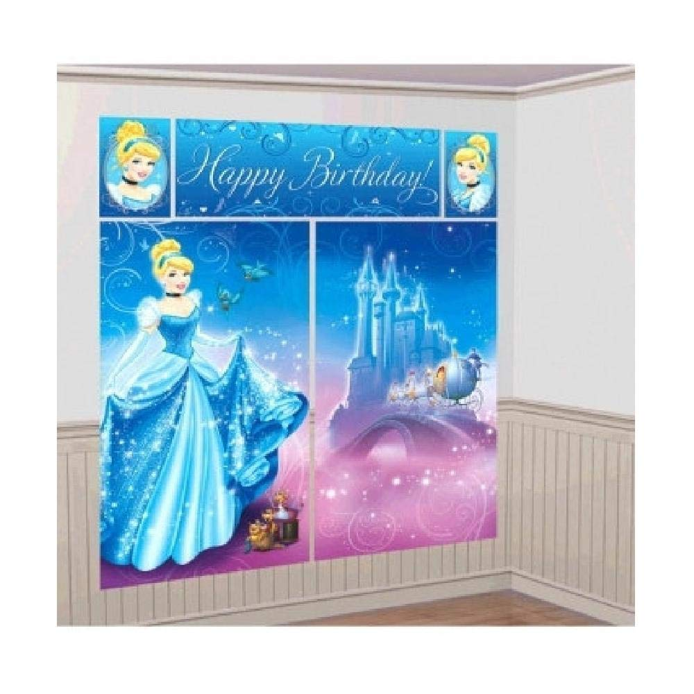 Amazon.com: Bargain World Cinderella Scene Setter Wall Dec Kit (with ...