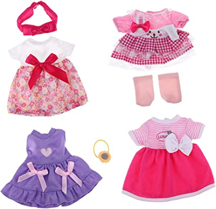 6pcs Girl Doll Clothes Accessory for Mellchan Baby Doll Dress up Accessory