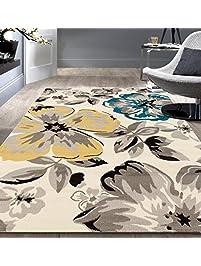 rugshop modern floral area rug 5u0027 x 7u0027