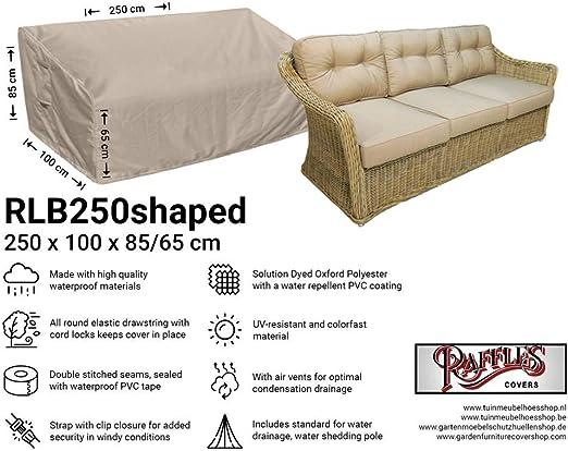 Raffles Covers NW-RLB250 - Funda para sofá de jardín (250 x 100 cm, 85/65 cm, Funda para sofá de Exterior, Funda para sofá de Patio): Amazon.es: Jardín