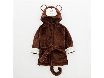 AHIMITSU Toalla acogedora Mono de Dibujos Animados de bebé con Capucha Toalla de baño Capa Recién