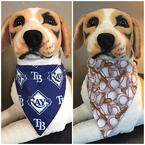 (MLB Reversible Pet Bandana Tampa Bay Rays Over The Collar)