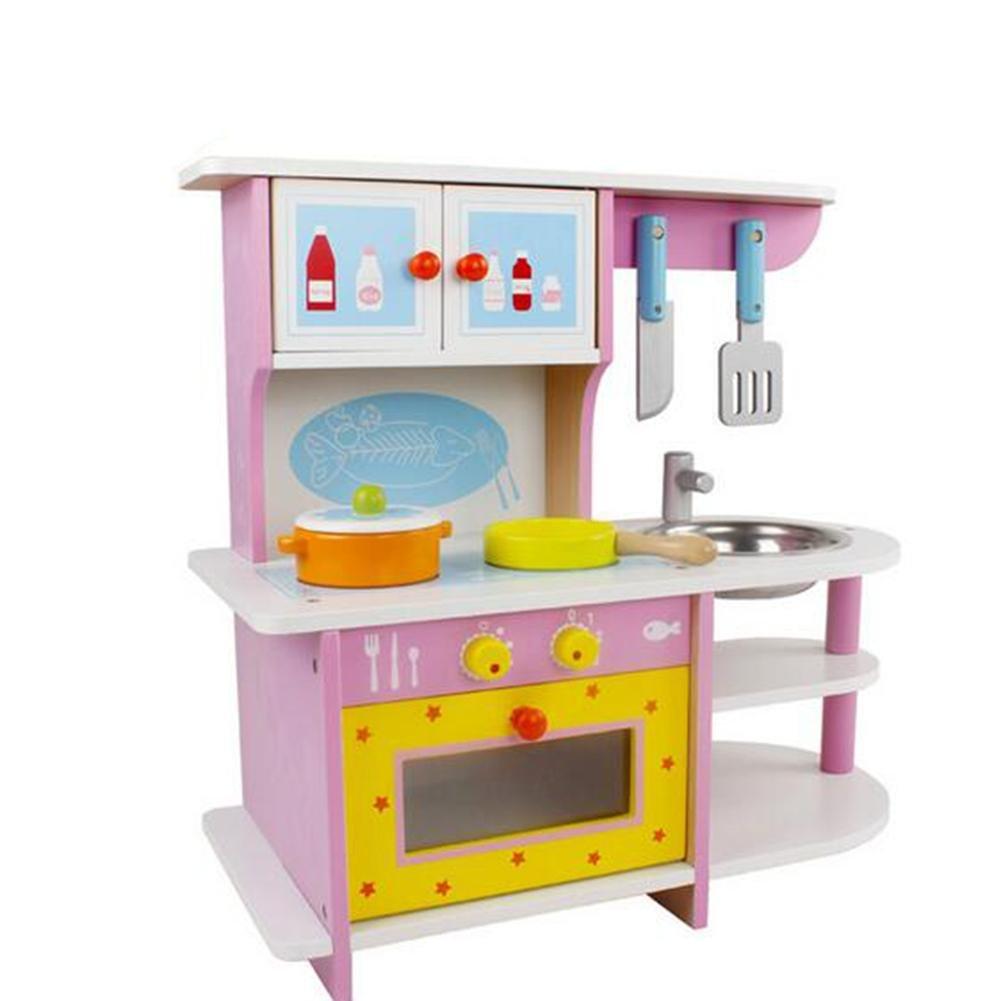 HJXJXJX papel de cocina madera de la simulación de los niños jugando traje de juguetes