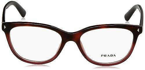 b96c6869f339 Amazon.com: Prada JOURNAL PR14RV Eyeglass Frames TWC1O1-54 - Red Havana  Gradient PR14RV-TWC1O1-54: Shoes