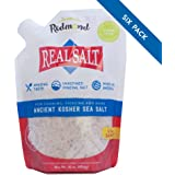 Redmond Real Sea Salt - Natural Unrefined Organic Gluten Free Kosher, 16 Ounce Pouch (6 Pack)