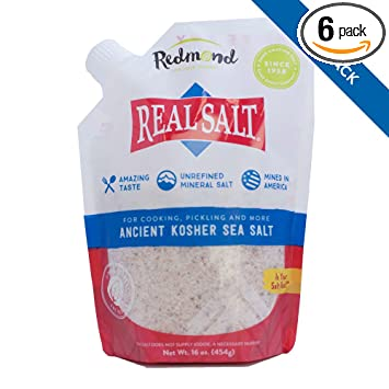 Remond RealSalt Kosher Sea Salt, 16-Ounce Pouches (Pack of 6)