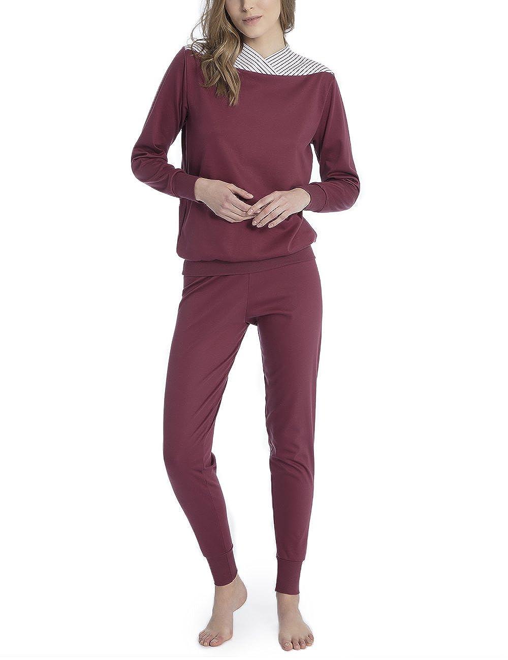 Calida Damen Zweiteiliger Schlafanzug Soft Cotton 43100