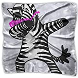 Funny Dabbing Zebra Funny Hip Hop Zebra Women's Fashion Silk Neckerchief Square Scarf Headdress S Satin Neck Headscarf