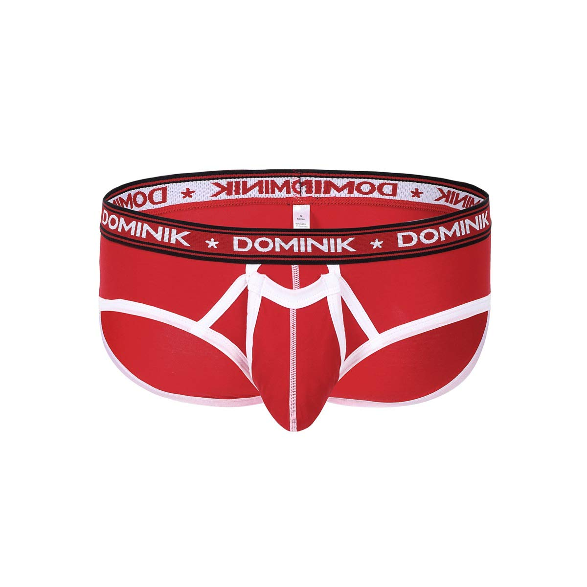 Dominik Underwear Cotton Brief, Mens, Red
