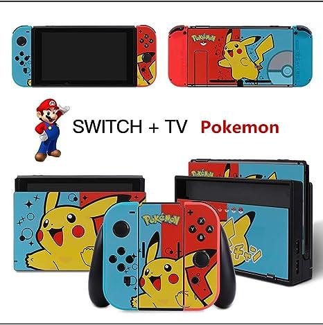 Cambiar la etiqueta de la película Película protectora NS Nintendo serie de temas del juego Pokemon Zelda Odyssey y otros temas de juegos: Amazon.es: Videojuegos