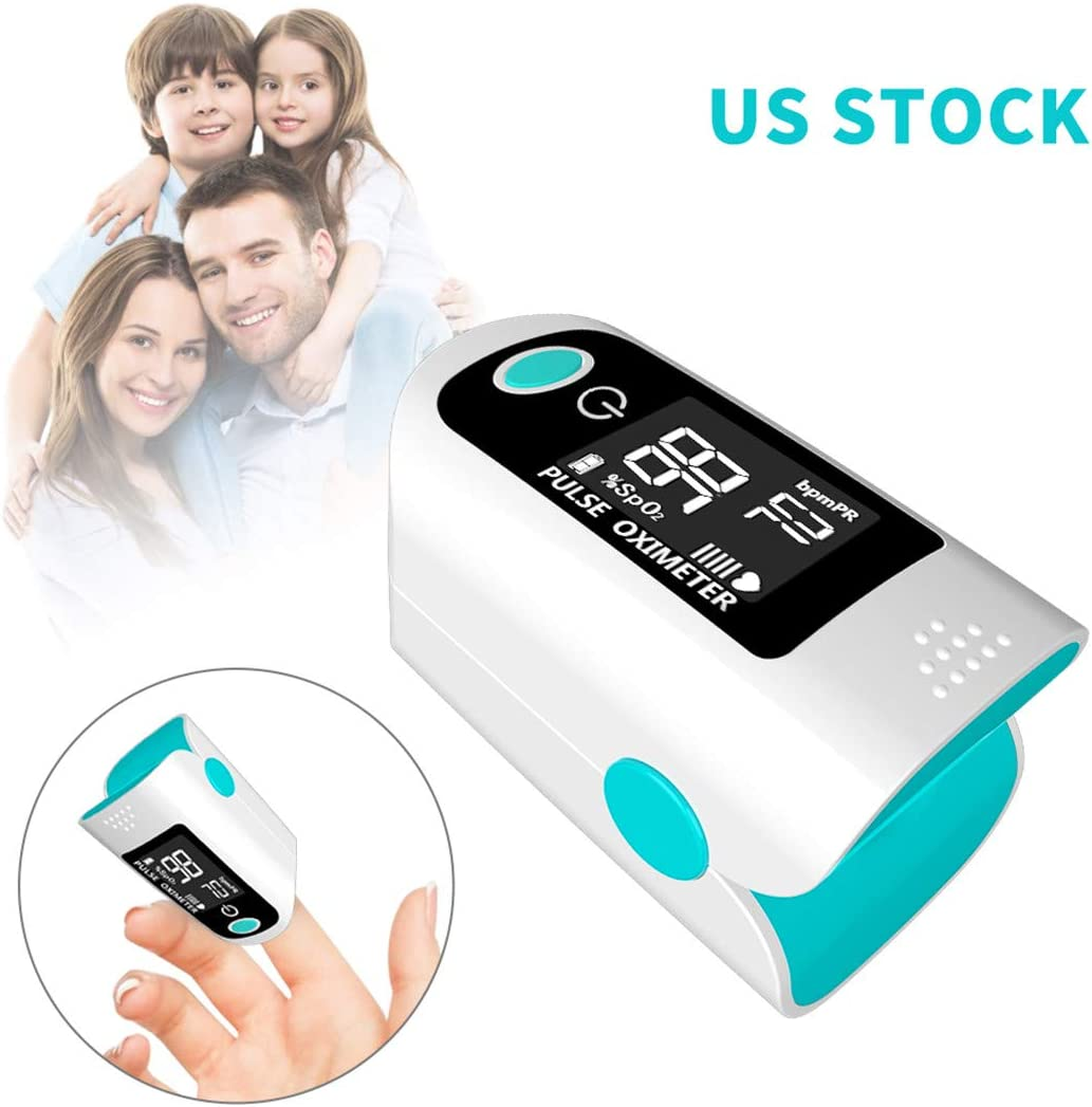 Fingertip Oximeter,Monitor Blood Oxygen Fingertip Monitor with LED Screen Digital Readings for Pulse Rate