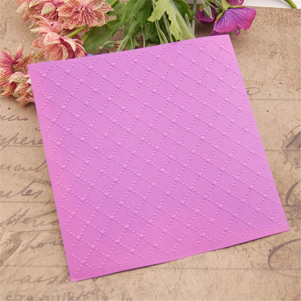 Plaid Plastic Embossing Folder for Scrapbook DIY Album Card Tool Plastic Template Folders