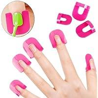 CATTIE Girl 1Set 26pcs Nail Polish visualización Creative Spill-resistant Manicura dedo carcasa de Gel Esmalte de Uñas Escudo Protector