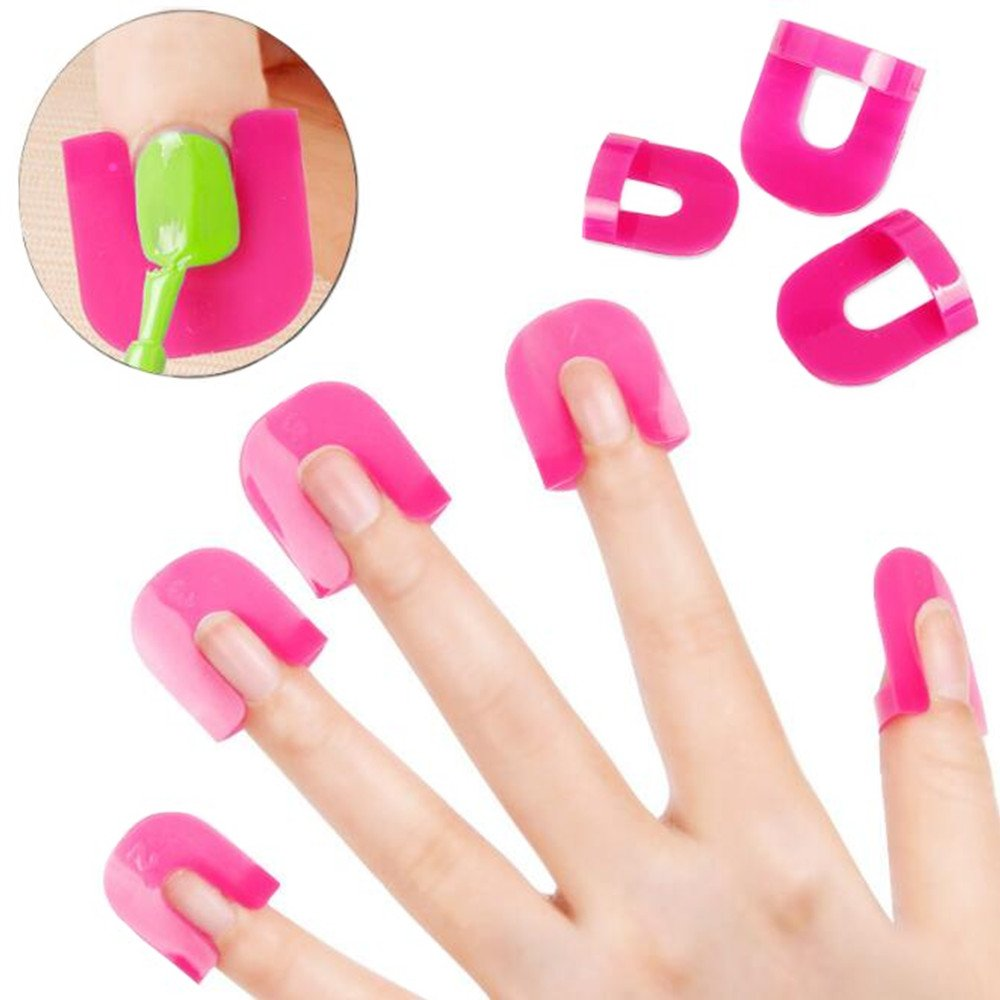 Cattie Girl 1 Set 26pcs Nail Gel Polish Protector Creative Spill-Resistant Manicure Finger Cover Nail Polish Shield Protector