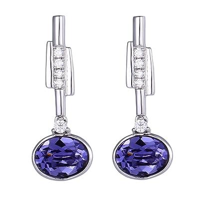 be661e565 Xuping Black Friday Gifts Charm Crystals from Swarovski Women Girl Stud  Earrings Jewelry with Box Wedding (Tanzanite): Amazon.ca: Jewelry