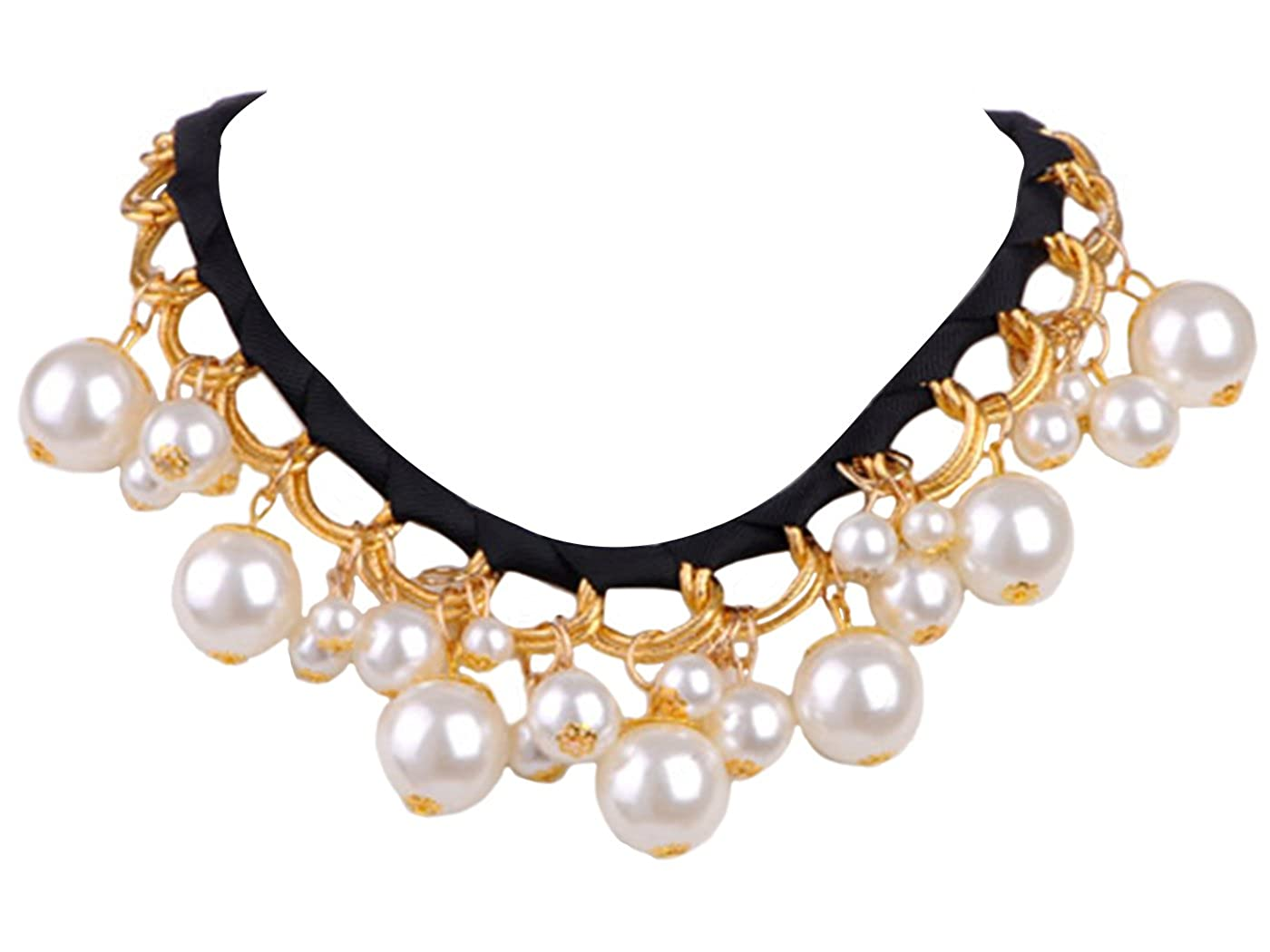 ee7fd96dc790e Amazon.com: Alilang Classic and Simple Faux Pearls and Baubles ...