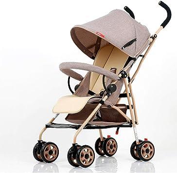 Opinión sobre ZYC-WF Bicicletas Niños, Bicicletas Niños Cochecitos de Bebé Ultra-Ligero Plegable Portátil de Golpes de Distancia la Mano Niño Empujando (Caqui) (Gris) 57 * 45 * 96Cm,Gris,Gris