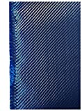 3K Full carbon fiber fabrics cloth wrap sheet 200g/m2 twill weave 1meter width-39.5'' x 39.5'' (blue)
