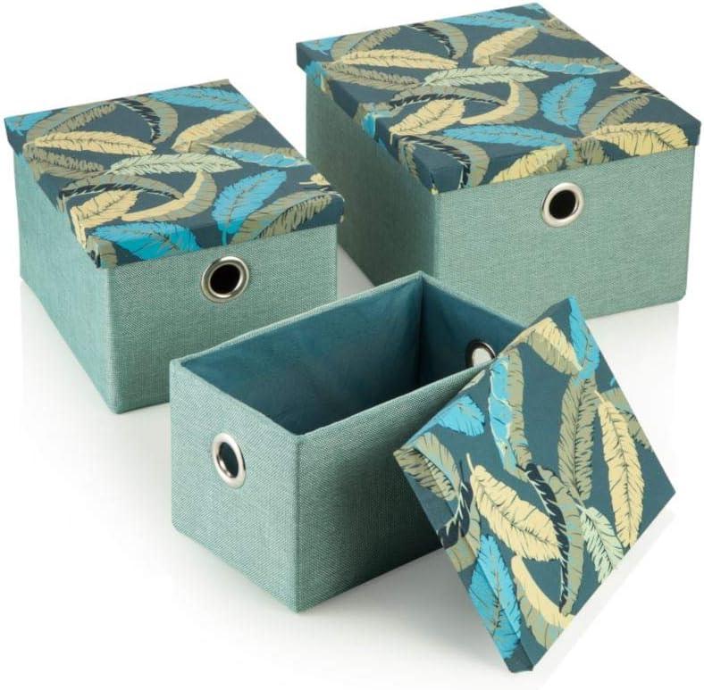 MONTEMAGGI Cajas rectangulares Cubiertos con Tela Hojas de 30 x 40 x 20, 5: MainApps: Amazon.es: Hogar