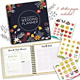 The Perfect Wedding Planner and Organizer - Checklists, Guest Name List, and Essentials Tools - Plan Everything Perfectly As You And Your Fiance Head Up To Tie The Knot - Comes with Funny Stickers