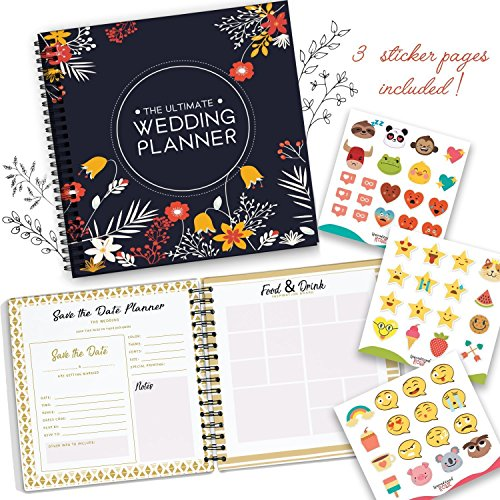 The Perfect Wedding Planner and Organizer - Checklists, Guest Name List, and Essentials Tools - Plan Everything Perfectly As You And Your Fiance Head Up To Tie The Knot - Comes with Funny Stickers. ()