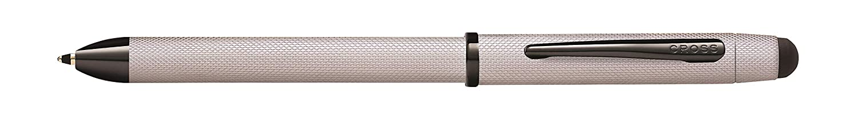 2 Kugelschreiber Schwarz//Rot, 1 Bleistift, Stylus, Radiergummi ros/é gold geb/ürstet Cross Tech 3 Mehrfarbkugelschreiber