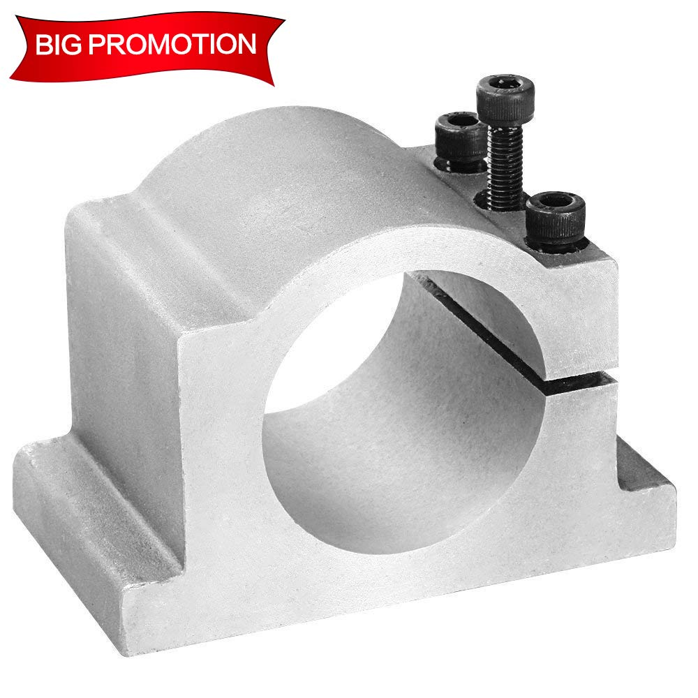 Konmison 80mm Spindle Motor Clamp Mount Bracket Diameter 80mm with Screws for 1.5kw 2.2kw Milling Spindle