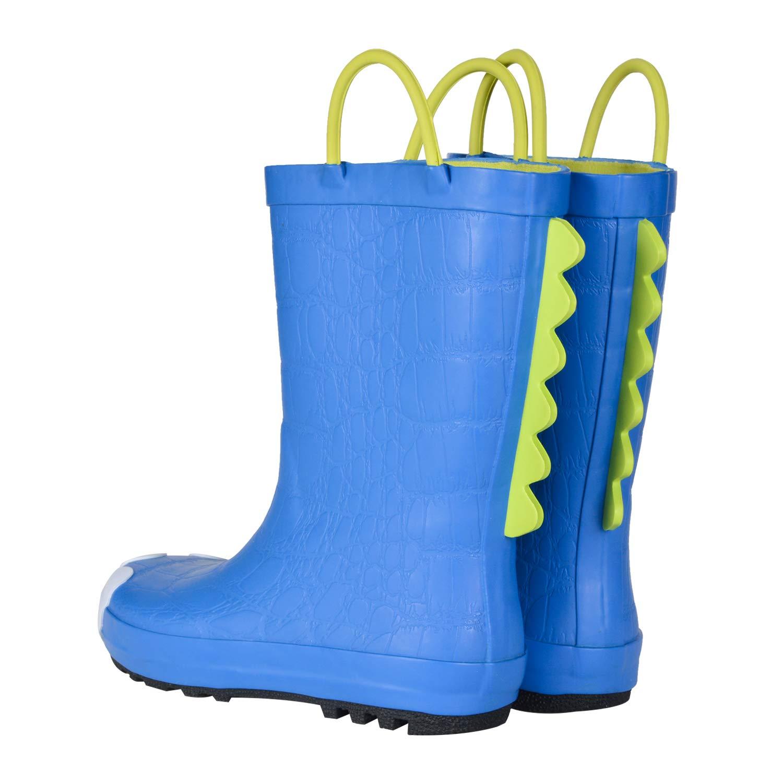Toddler Rain Boots for Boys Girls in Fun Patterns WDSAFSLO Kids Rain Boots