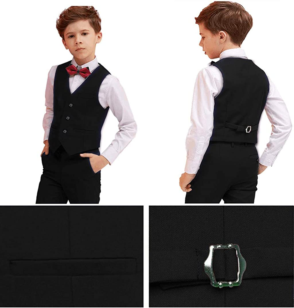 Boys Suits 5 Piece Slim Fit Suit for Kids Formal Ring Bearer Suits