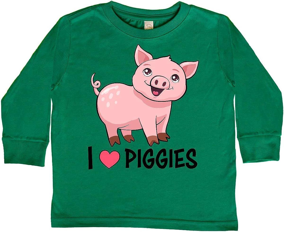 Toddler//Kids Sweatshirt Im Going to Love Pigs When I Grow Up Just Like My Great-Grandma